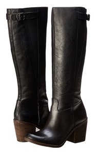 Lucky Brand Leather Full Zipper Closure Black Boots
