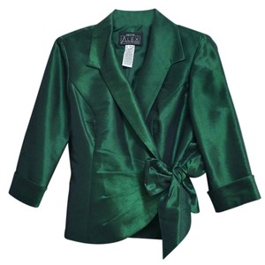 Alex Evenings Wedding Formal Evening Emerald Green Jacket