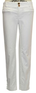 Anthropologie Capri/Cropped Pants white