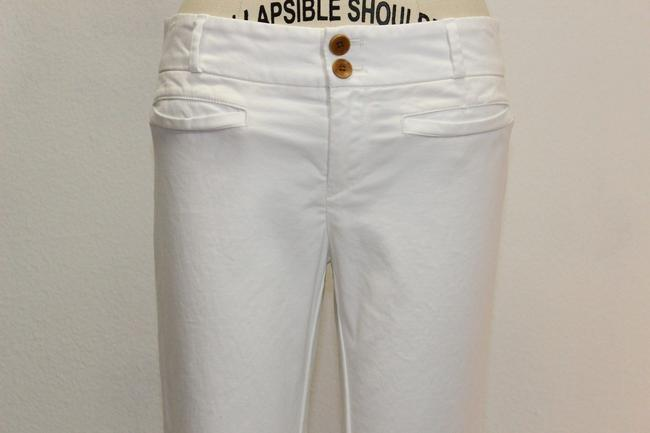 Anthropologie Mini Capri/Cropped Pants white
