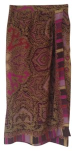Folio Silk Wrap Skirt Maroon