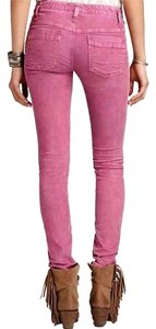 Free People Pink Skinny Pants Berry Pink