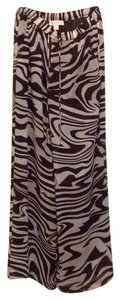 MICHAEL Michael Kors Wide Leg Pants Brown zebra print