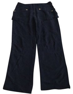 Marc by Marc Jacobs Silk Pants Relaxed Pants Navy with Gold Buttons