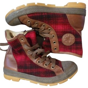 Converse x Woolrich Red Boots