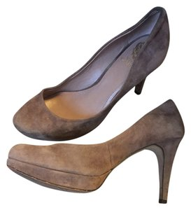 Vince Camuto Taupe Suede Pumps