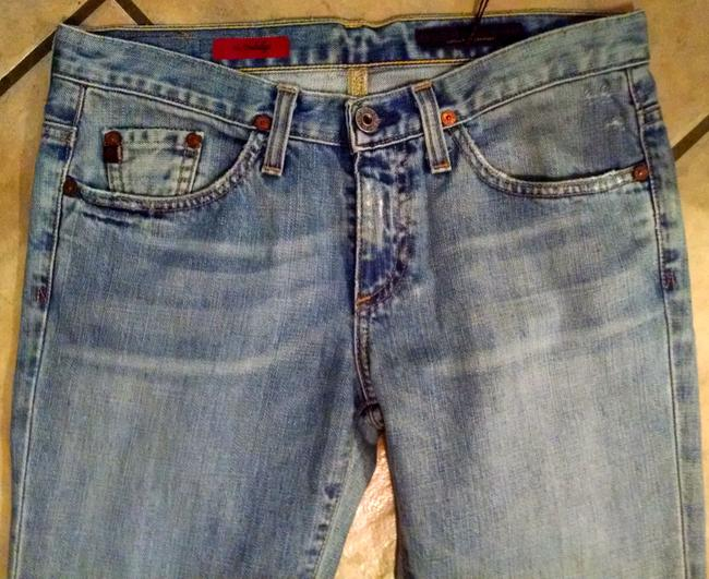 AG Adriano Goldschmied Size 27 P742 Boot Cut Jeans-Light Wash