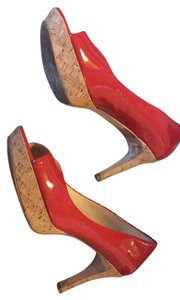 Via Spiga Red and cork Pumps