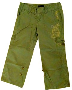 Express Cropped Cargo Pants Capris OLIVE GREEN