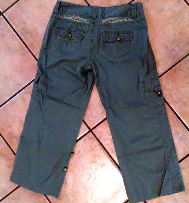 Express Cropped Cargo Pants Size 6 Capris OLIVE GREEN