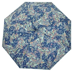 Sakroots New With Tags Compact Umbrella Denim Blue Songbird Artist Circle