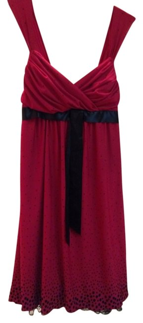 Preload https://item4.tradesy.com/images/red-and-black-above-knee-cocktail-dress-size-8-m-1140538-0-0.jpg?width=400&height=650