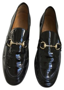 Gucci Black Paten Leather Flats