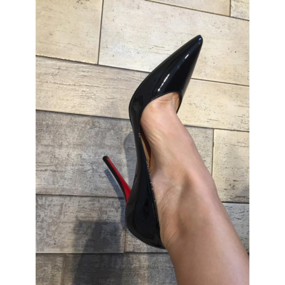 the best attitude bc547 55d62 Christian Louboutin Apostrophy 100mm Black Patent Classic 40 Pumps Size US  10 Regular (M, B) 16% off retail