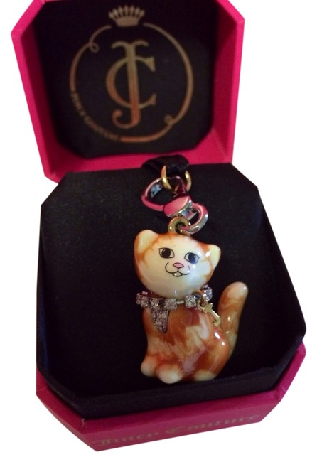 Juicy Couture Multicolor Adorable and Rare Orange & White Pave Chest with Collar Tabby Kitty Cat Charm Juicy Couture Multicolor Adorable and Rare Orange & White Pave Chest with Collar Tabby Kitty Cat Charm Image 1