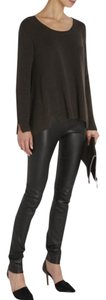 The Row Black Leather Leggings