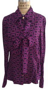 MILLY Bow Top Patterned