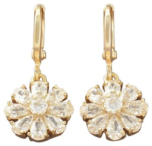 Other New Shinning Gold Filled CZ Sunflower Dangle Earrings