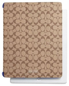 Coach Coach Signature Apple iPad Trifold Smart Cover F69079 Khaki/Blue NWT