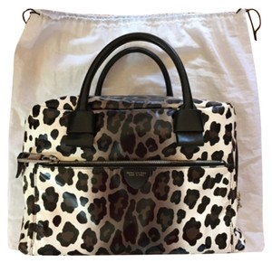 Marc Jacobs Antonia Leopard Satchel in Black