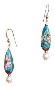Other handmade teardrop cloisonne earrings