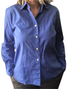 Barneys New York Button Down Shirt Blue