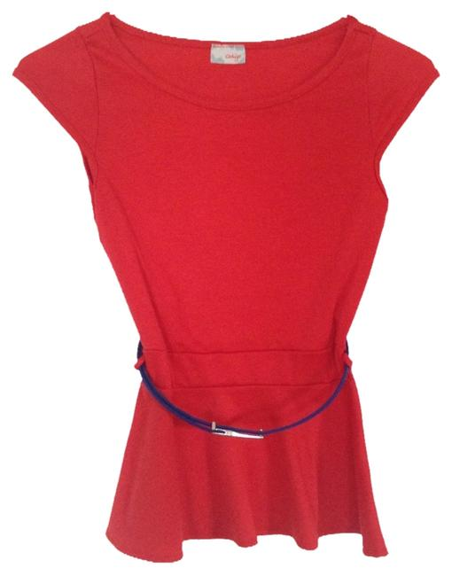 Item - Red Blue Blouse Size 4 (S)