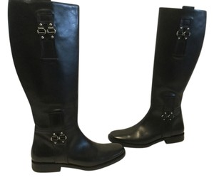 Cole Haan Thick Leather Riding Leather Lining Black Boots