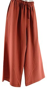 Eskandar Silk Cargo Relaxed Pants Red