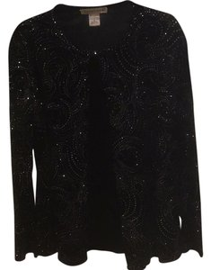 Notations Top Black/silver embellished