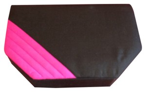 Khanitha Silk Black / Hot Pink Clutch