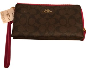 Brand New Coach Wallet Wristlet Brown Clutch
