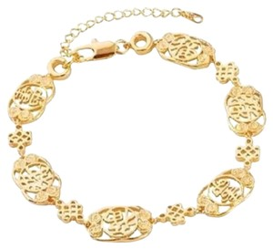 Other New Gorgeous Gold Filled Chinese Character Luck Bracelet 8