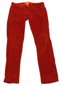 Lucky Brand Zoe Skinny Skinny Pants Burgundy Red