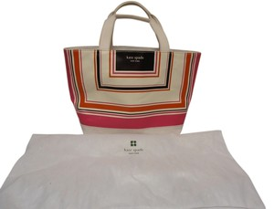 Kate Spade Designer Canvas Tote in Pink