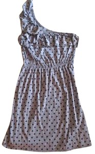 Everly short dress Grey and Black Polka Dot on Tradesy