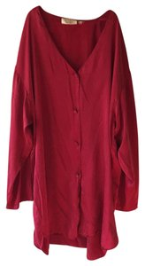 Victoria's Secret Button Down Shirt Brick red