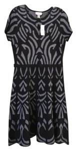 Ann Taylor LOFT short dress Black with gray accent on Tradesy
