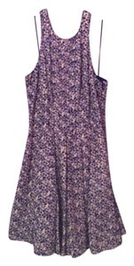 Jessica Simpson short dress Floral blue and greyish pink on Tradesy
