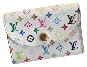 Louis Vuitton Louis Vuitton White Multicolor Card Holder
