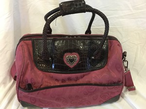 Brighton Leather rose pink, brown, silver Travel Bag