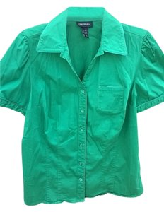 Lane Bryant Green Top Emerald