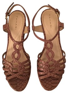 Tahari Light brown Wedges