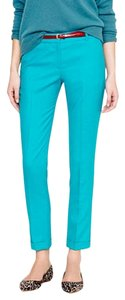 J.Crew Slim Stretch Classic Wear To Work Trouser Capri/Cropped Pants Turquoise