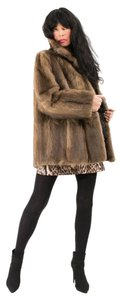 Other Musquash Muskrat Mink Real Fur Fur Fur Coat