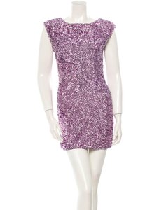 Alice + Olivia Sequin Keyhole New Year's Eve Cocktail Party Dress
