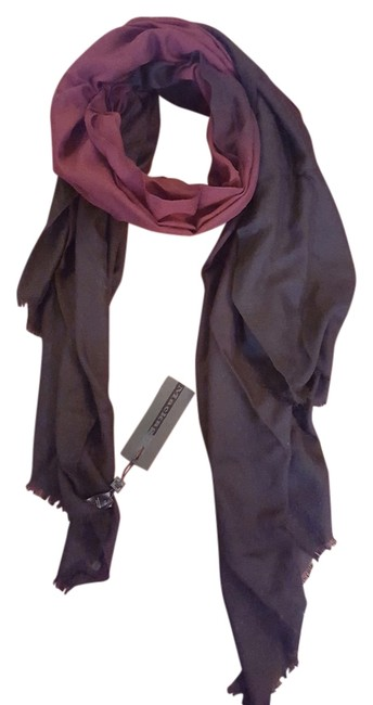 Item - Black/Merlot Wool/Cashmere Scarf/Wrap