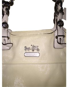 Coach Satchel in Off White