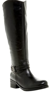 Seychelles Round Toe Leather Tall Boot Black Boots
