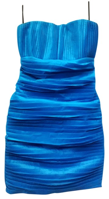 Preload https://item5.tradesy.com/images/blue-pleated-taffeta-short-cocktail-dress-size-2-xs-1141119-0-0.jpg?width=400&height=650
